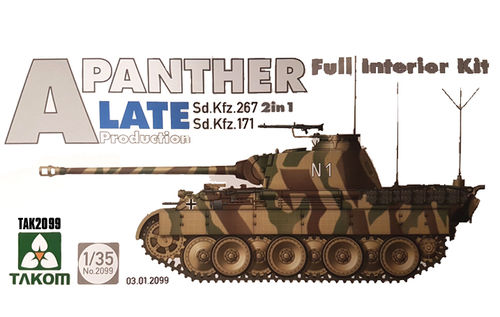 Panther Ausf.A Late prod. full Interior 1/35