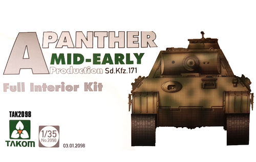 Panther Ausf.A mid- early prod. full Interior  1/35