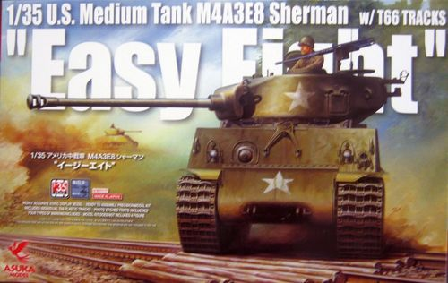 M4A3E8 Sherman Easy Eight with T66 tracks 1/35