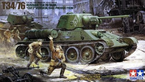 "T34/76 Tank ""ChTZ"" Version 1943 Production  1/35"