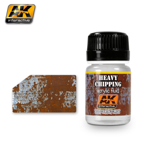 Heavy Chipping  Acrylic Fluid