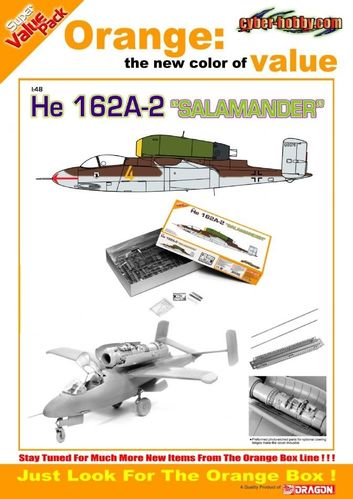"He162A-2 ""Salamander"" + Photo-Etched Parts  1/48"