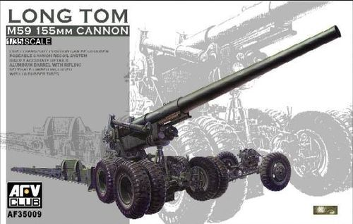 Long tom M59 155mm cannon  1/35