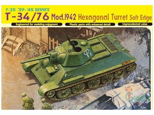 T-34/76 Mod.1942 Hexagonal Turret Soft Edge Type    1/35