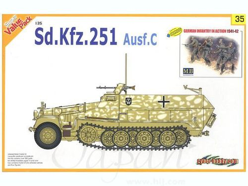 Sd.Kfz.251 Ausf.C + German Infantery in action  1/35