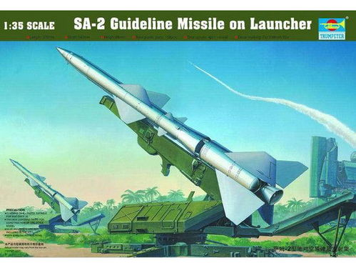 SA-2 Guideline Missile on Transport trailer 1/35