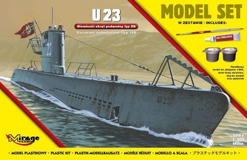 U23 (German Submarine WWII TypeIIB Gift Set    1/400