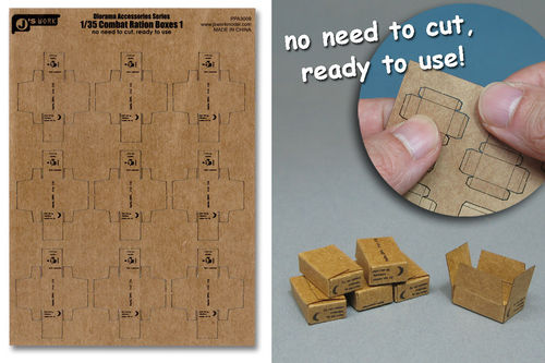 WWII US Combat Ration Boxes  type: 1   1/35