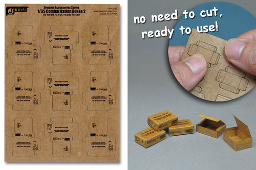 WWII US Combat Ration Boxes  type: 2   1/35
