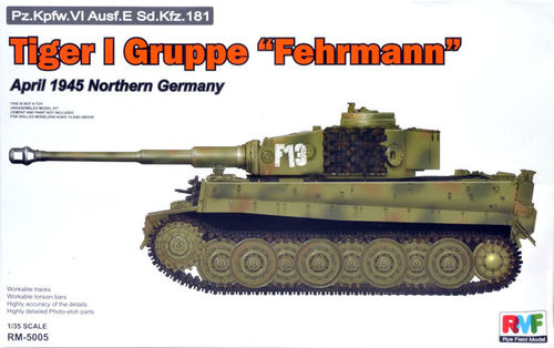 "Tiger I Gruppe ""Fehrmann"" April 1945   1/35"