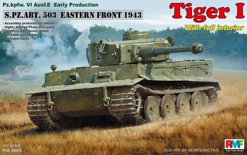 Tiger I Early Production w/Full Interior   1/35