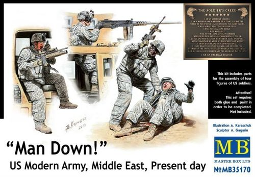 """Man Down!"" US Modern Army Middle East  1/35"