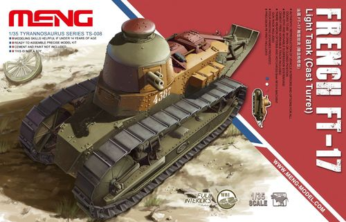 French FT17 Light Tank Cast Turret 1/35