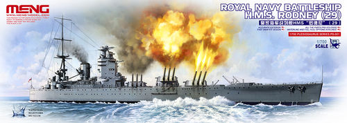 Royal Navy Battleship H.M.S. Rodney  1/700