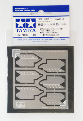 Tamiya Photo Etch zaagbladen 0,1 mm (2x3)