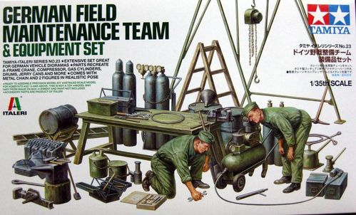 WWII German Field Maintenance Team &Equipment Set  1/35