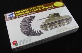 Workable Track Link Set  Sherman Cuff Type 1/35