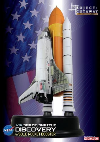 Space shuttle discovery w/solid rocket booster  1/144