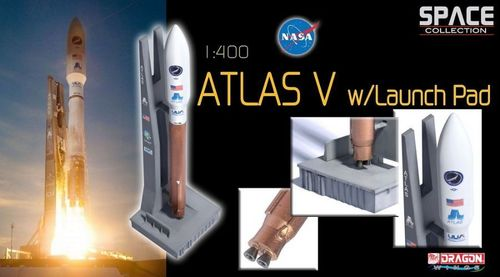 Atlas V rocket with Launch Pad  1/400