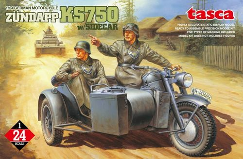 German Motorcycle Zündapp KS750 w/Sidecar 1/24