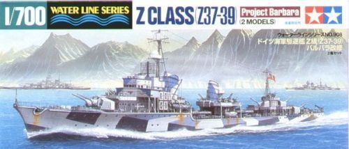 German Destroyer Z Class (37-39) 1/700 Water Line Series