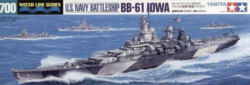 US Battleship Iowa 1/700 Water Line Series