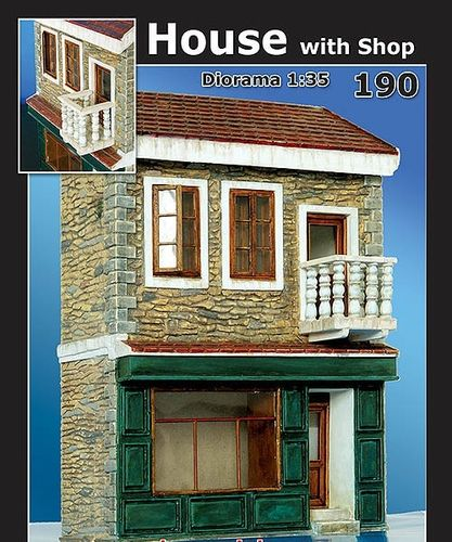 house with Shop  1/35