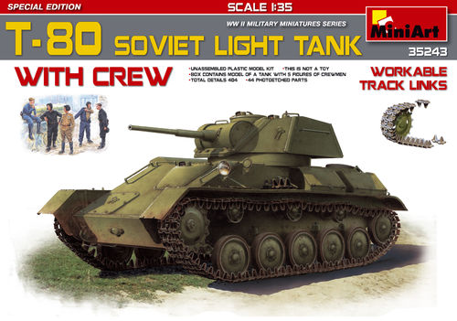 T-80 Soviet Light Tank +Crew Special Edition  1/35