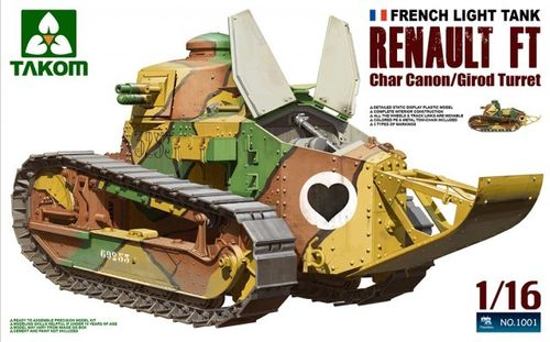 French Light Tank Renault FT Char Canon/ Girod Turret 1/16