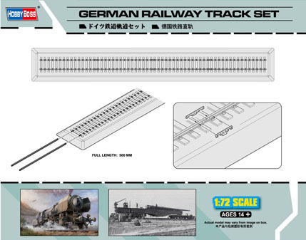 German Railway Track set 1/72
