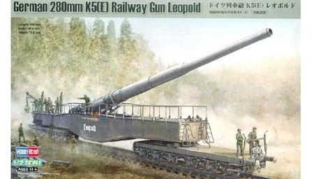 German 280mm K5(E) Railway Gun Leopold 1/72
