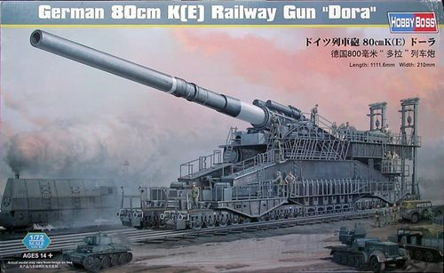 "German 80cm K(E) Railway Gun ""Dora"" 1/72"