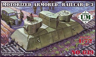 Motorized armored railcar D-3  1/72