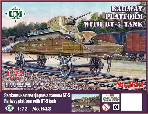 Railway platform with BT-5 tank  1/72
