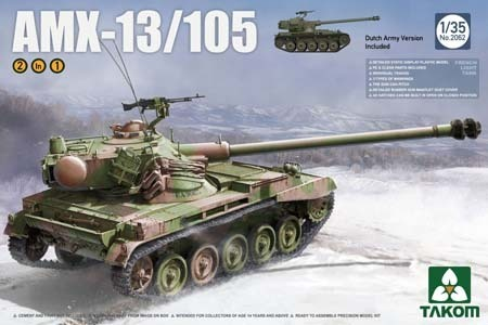 French Light Tank AMX-13/105 2 in 1  1/35