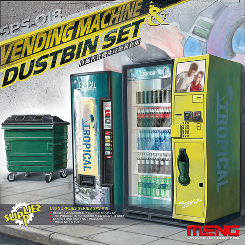 Vending Machines and dumpster set 1/35