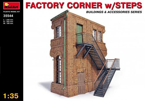 Factory Corner with steps  1/35