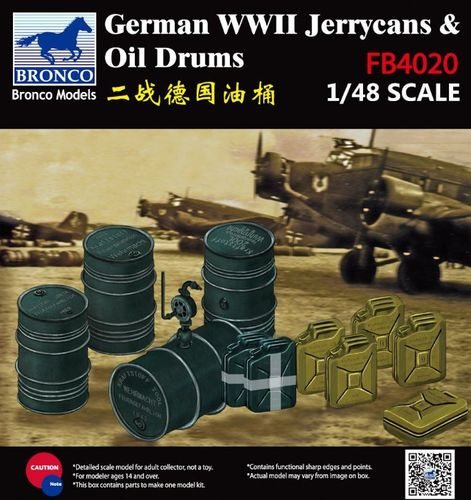 WWII German Jerry Can & Fuel Drum 1/48