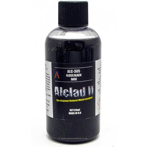 ALCLAD II GLOSS BLACK BASE PRIMER ALC305  (120ml)