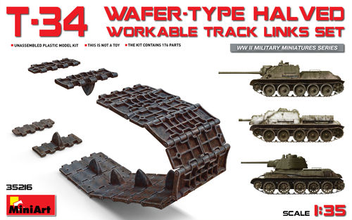 T34 wafer-type halved workable tracks 1/35