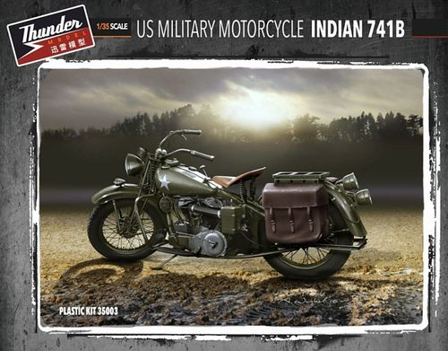 US Military Motorcycle Indian 741B (Two kits in box) 1/35