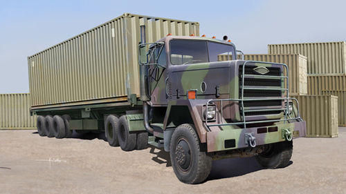 M915 Tractor + M872 Flatbed trailer & Container 1/35
