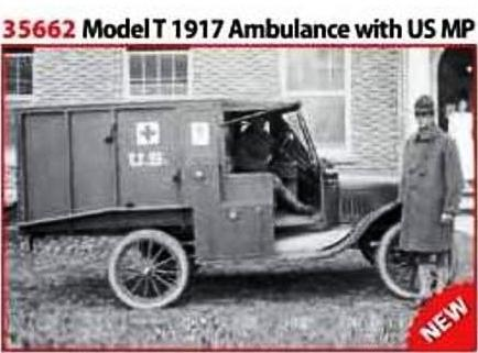 Model T '17 Ambulance + US Med Personnel 1/35