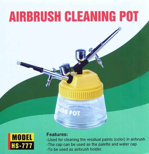 Airbrush Cleaning Pot 3 in 1