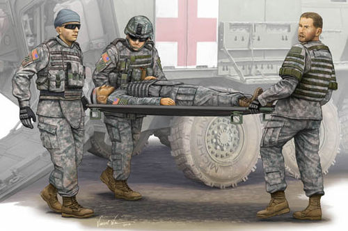 Modern U.S. Army-Stretcher AmbulanceTeam 1/35