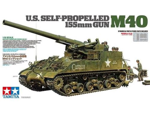 US Self-Propelled 155mm Gun M40 1/35