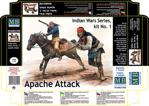 Apache Attack , Indian wars kit no 1 1/35