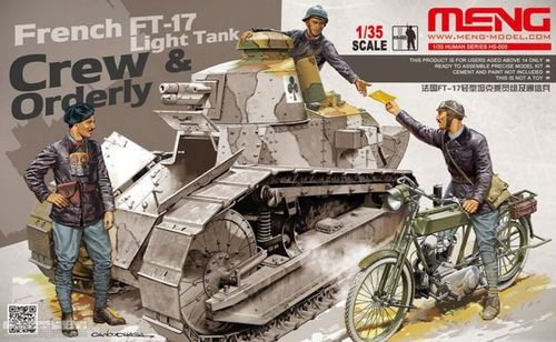 French FT-17 Light Crew and orderly 1/35
