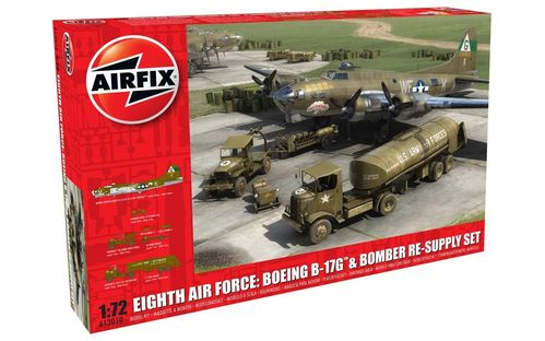 8th Air Force: Boeing B-17G & Bomber Re-supply Set  1/72