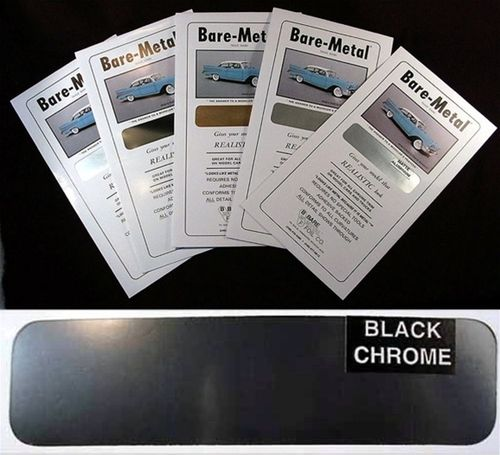 Bare Metal Foil : Black Chrome Foil